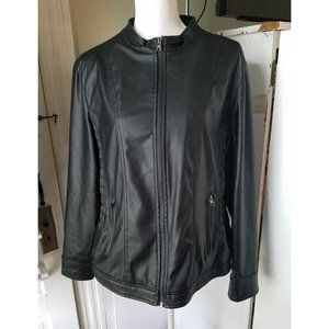 Simply Emma Faux Leather Jacket Size 2X